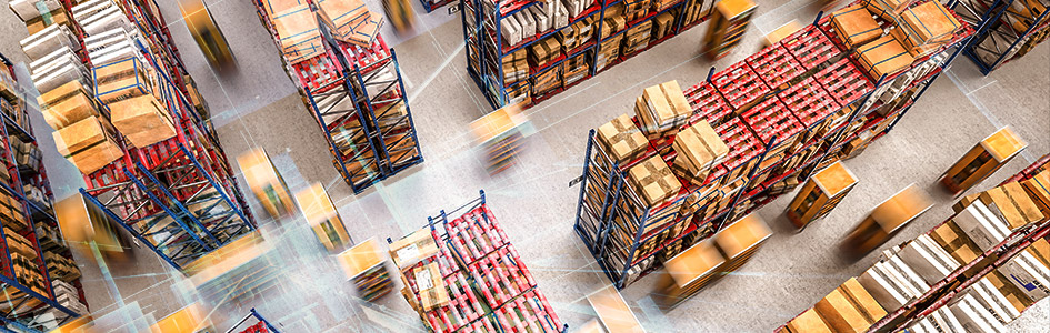 logistics processes in warehouse setting
