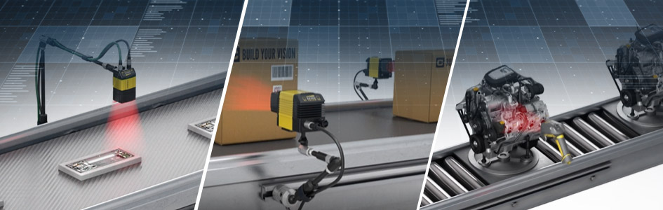 fixed-mount and handheld barcode readers read barcodes on moving boxes, electronics, and automotive systems