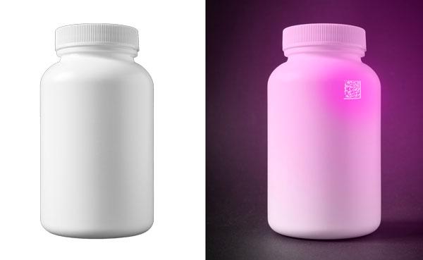 UV code on bottle