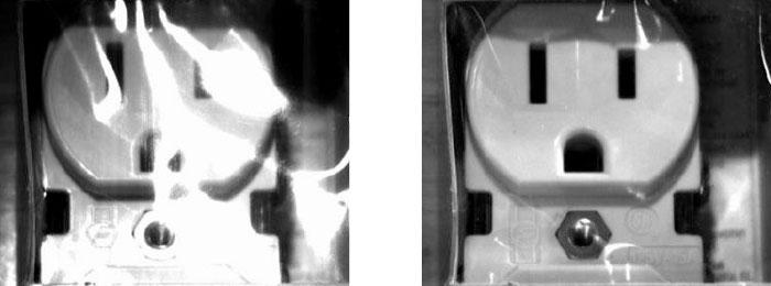 polarizer reduces glare on inspection images