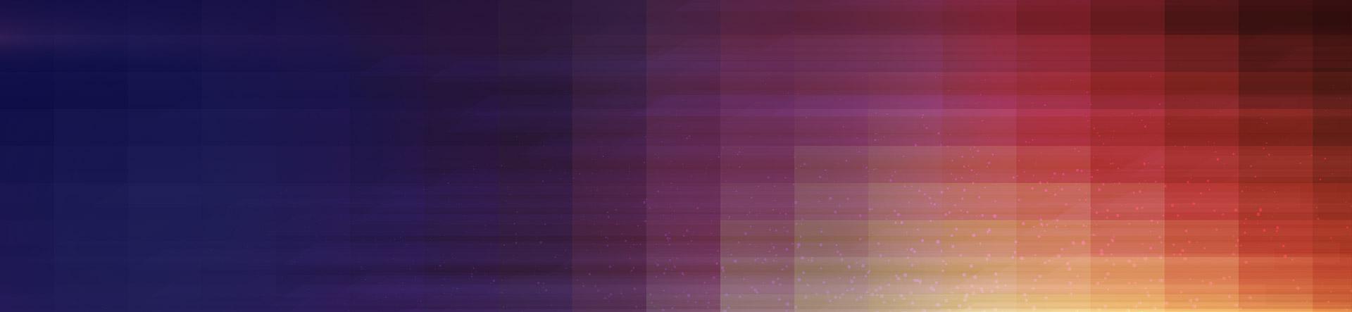 Color block blue, purple, red, orange, yellow banner