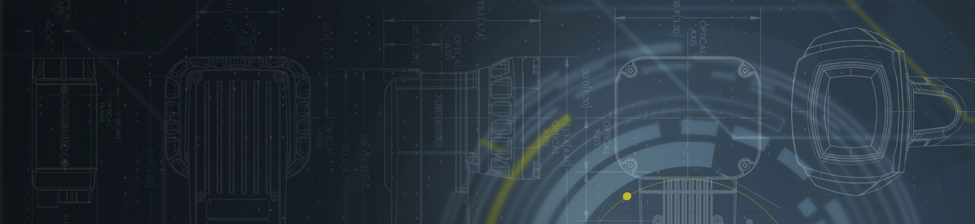cognex product and lens blueprint banner