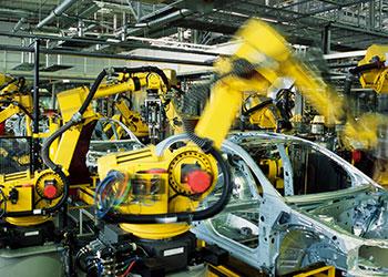 vision guided robot arm line building automotive