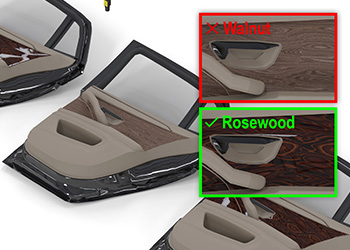 Cognex deep learning classifies decoration panel for assembled car door interior