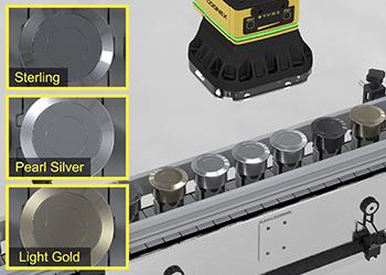 In-Sight D900 classifies park assist sensors by color to match bumper color