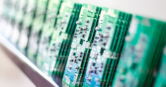shelf stacked PCBs