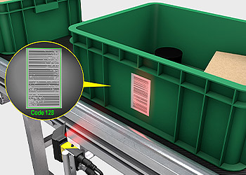 Zone routing green totes using barcode scanning