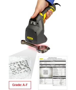 Cognex 8072 Barcode Verification DPM example with software screenshot