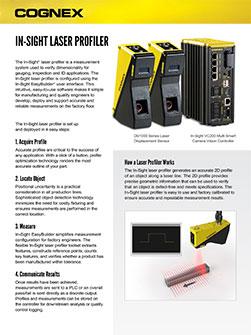 In-Sight Laser Profiler Datasheet
