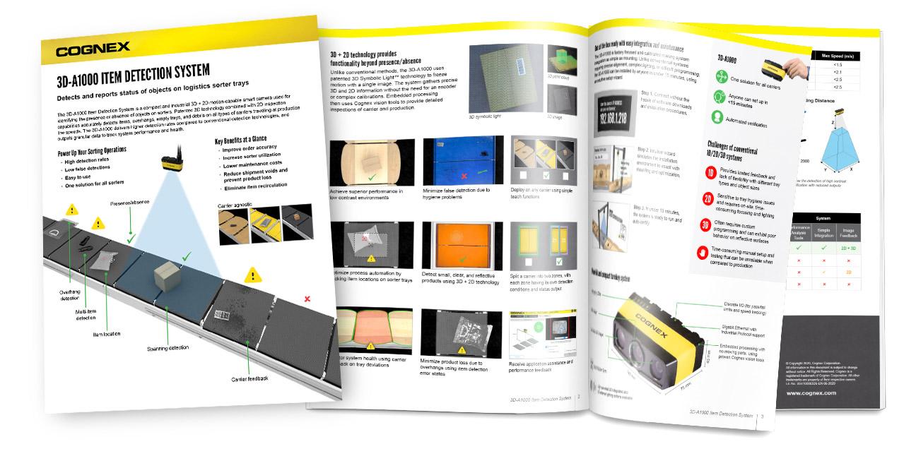 3D-A1000 Item Detection Datasheet