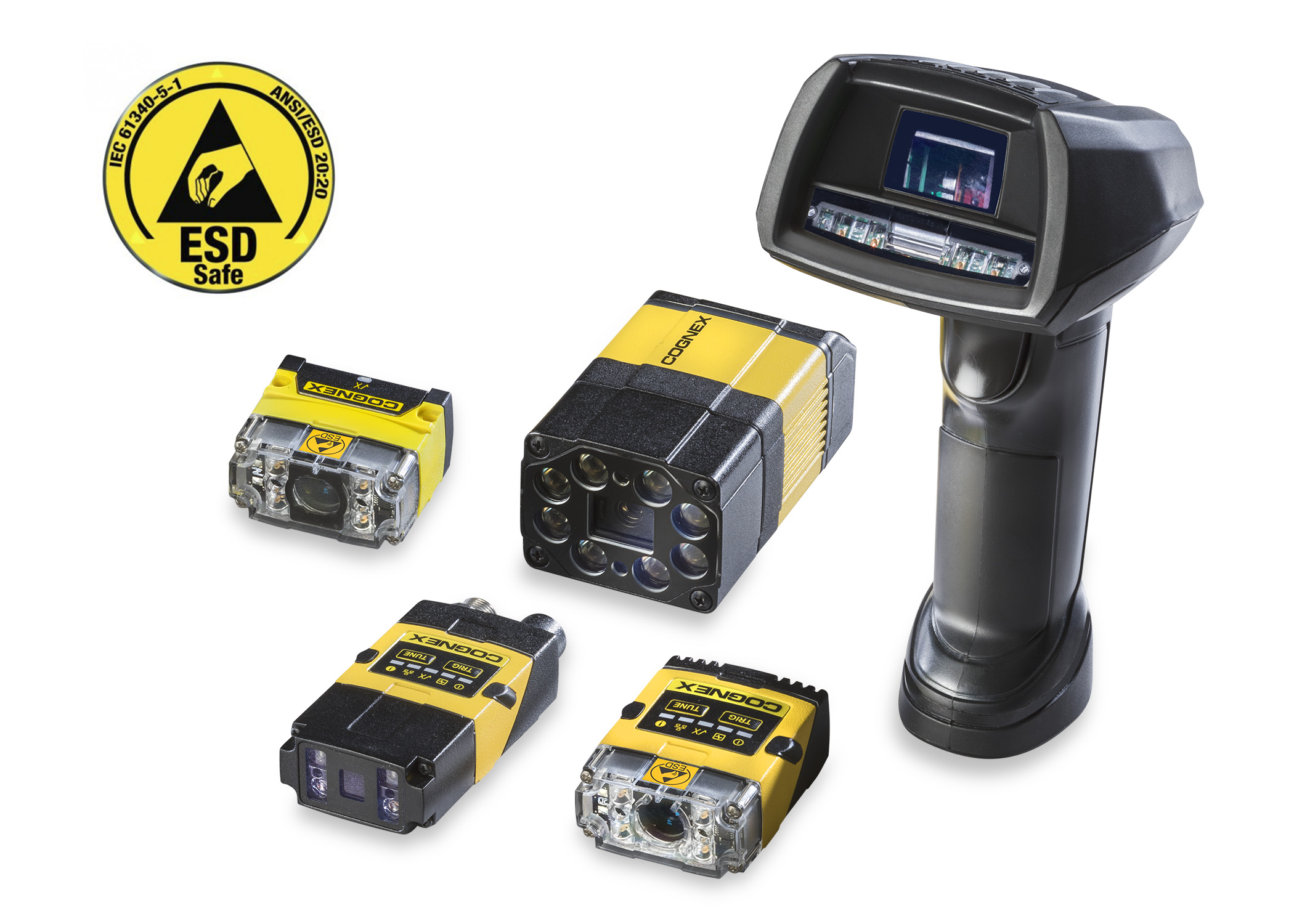 all cognex dataman ESD-Safe Barcode Readers with ESD logo