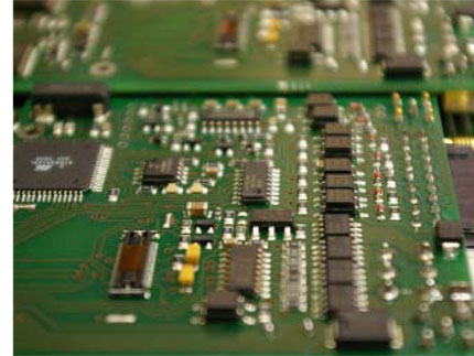 PCB Components on circuit board