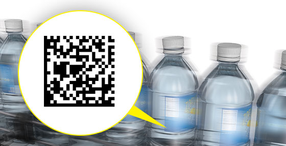 IDQuick 2d code example on high speed bottles