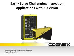 Cognex 3D Application Solutions Webinar