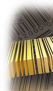 two dimensional 1d barcode floating over printed 1d bar codes