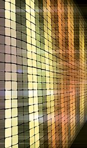 yellow orange square pixel art