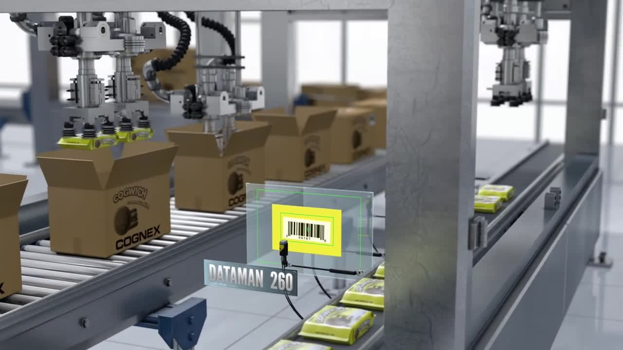 DataMan 260 Barcode Readers Food Traceability with 1d barcodes before packaging